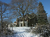 East meadow & house in winter<br /> Woodend Sanctuary, Chevy Chase, MD