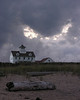 Gathering storm at dusk at Old Coast Guard Station<br /> Cape Cod National Seashore, Eastham, Cape Cod, MA