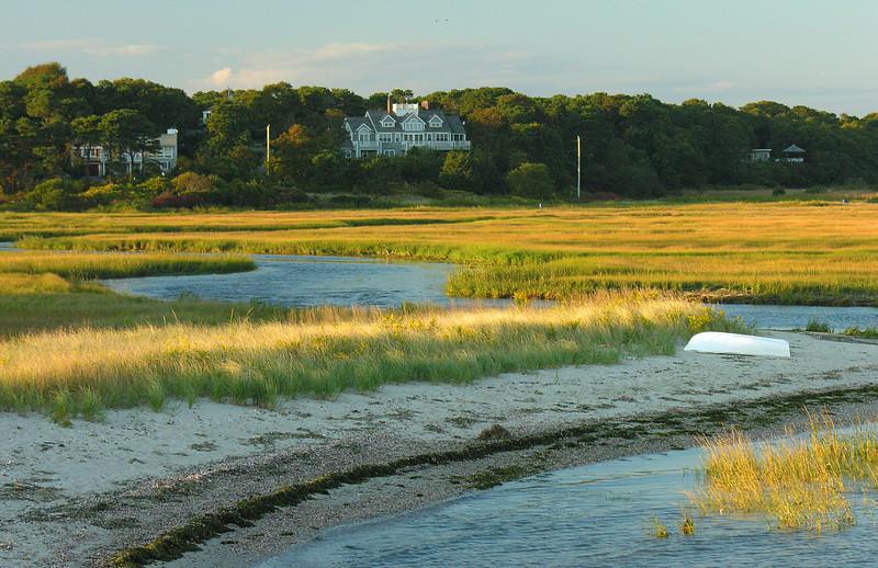 Deep Hole salt marsh at sunset<br /> Harwichport, Cape Cod, MA
