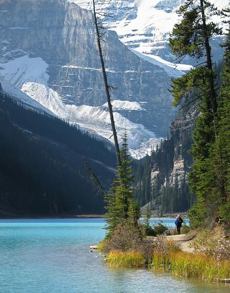 Louise Lakeshore Trail<br /> Banff National Park, Alberta, Canada