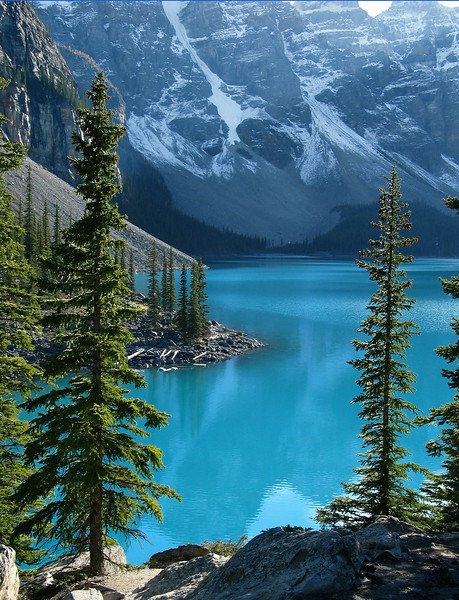 Moraine Lake in afternoon<br /> Banff National Park, Alberta, Canada