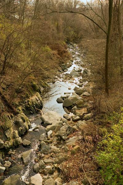 Minnehaha Creek flowing toward the Potomac River<br /> Glen Echo Park, Glen Echo, MD