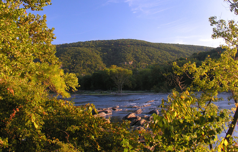 View across the river toward town<br /> Harper's Ferry, WV
