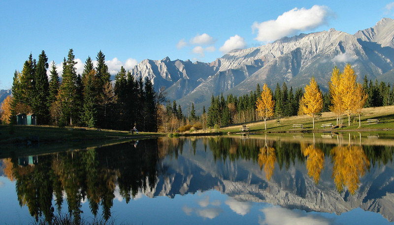Just before sunset at Quarry Lake Park<br /> Canmore, Alberta, Canada