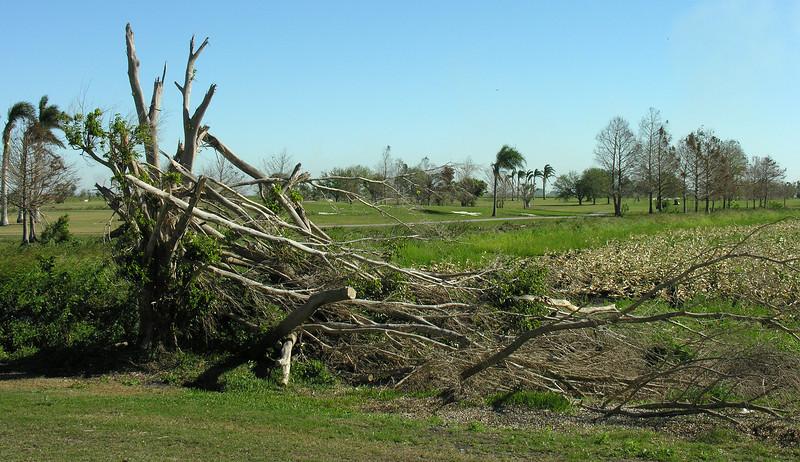 Damage from 2005 hurricanes Katrina & Wilma<br /> Lake Okeechobee, FL