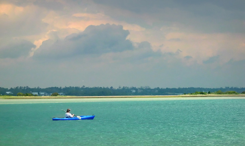 Kayaaking in the Intracoastal Waterway<br /> Topsail Island, NC