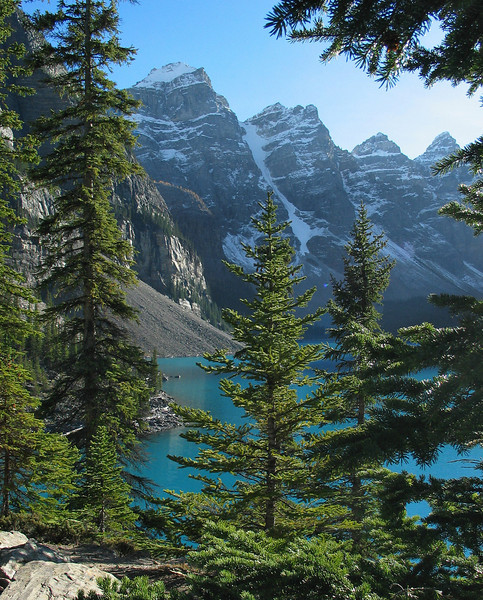 Mountains of the Valley of the Ten Peaks & Moraine Lake<br /> Banff National Park, Alberta, Canada