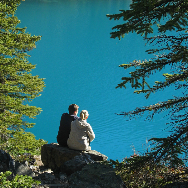 Lovers at Moraine Lake<br /> Banff National Park, Alberta, Canada