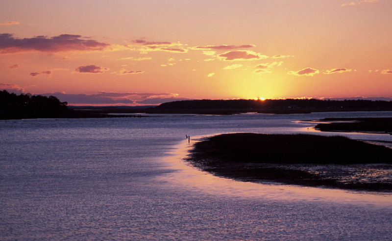 Sunset over Tom's Cove<br /> Chincoteague National Wildlife Refuge, Assateague Island, VA