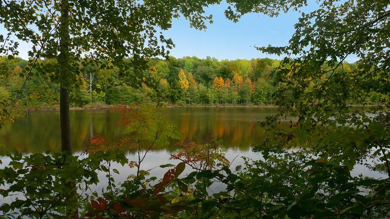Early autumn view across Wheatley Lake<br /> Gilbert Run Park, La Plata, MD