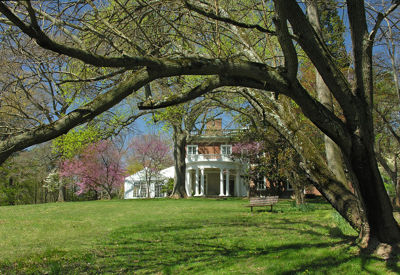 East lawn in spring<br /> Woodend Sanctuary, Chevy Chase, MD