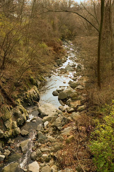Minnehaha Creek flowing toward the Potomac River<br /> Glen Echo Park, Glen Echo, MD