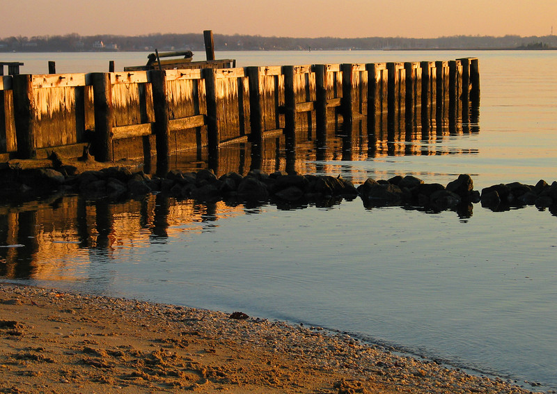 Old Dock on South River at sunset<br /> Quiet Waters Park, Annapolis, MD