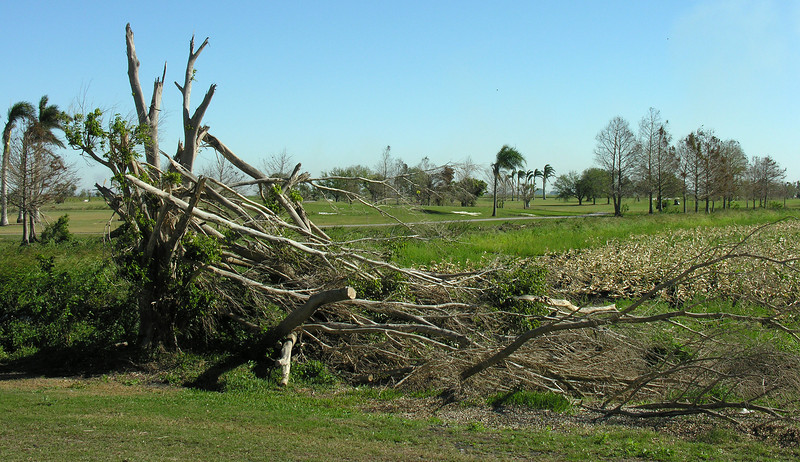 Damage from 2005 hurricanes Katrina & Wilma<br /> Lake Okeechobee, FL