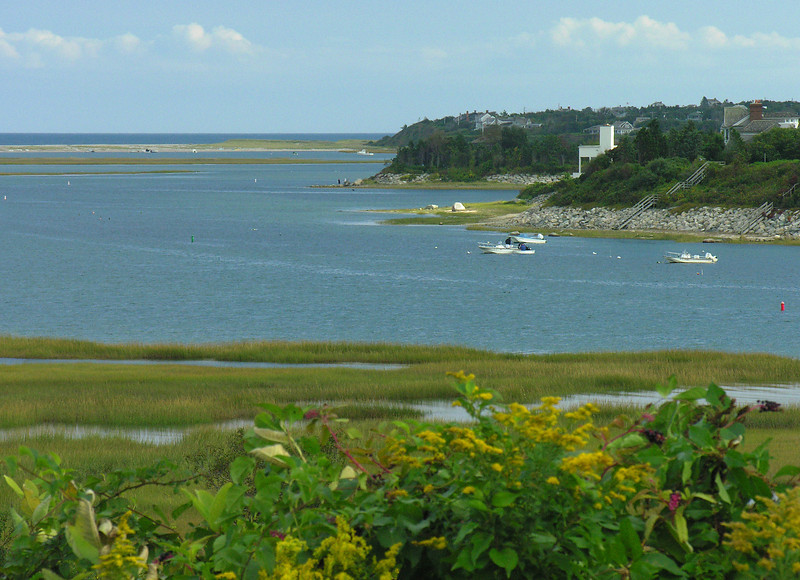 Nauset Marsh & coastline from Fort Hill<br /> Eastham, Cape Cod, MA