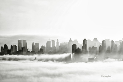 NY Skyline - Morning Fog.