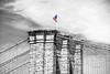 Brooklyn Bridge Tower and Flag