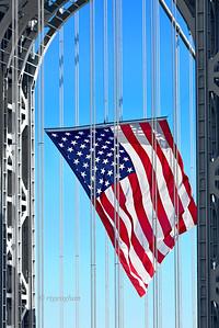 GW Brideg American Flag