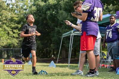 Coach Chris Dawson's Fastbreak Football Camp. June 29, 2018.