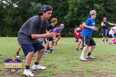 Coach Chris Dawson's Fastbreak Football Camp. June 27, 2018.