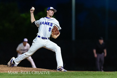 Holly Springs baseball senior Matt Wildness pitches in the Bobby Murray Invitational at Holly Springs High School. April 18, 2019. D4S_8353