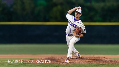 Holly Springs baseball senior Matt Wildness pitches in the Bobby Murray Invitational at Holly Springs High School. April 18, 2019. D4S_8274