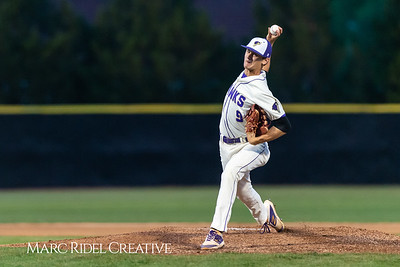 Holly Springs baseball senior Matt Wildness pitches in the Bobby Murray Invitational at Holly Springs High School. April 18, 2019. D4S_8286
