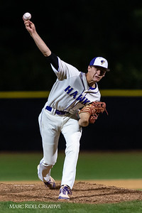 Holly Springs baseball senior Matt Wildness pitches in the Bobby Murray Invitational at Holly Springs High School. April 18, 2019. D4S_8326