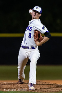 Holly Springs baseball senior Matt Wildness pitches in the Bobby Murray Invitational at Holly Springs High School. April 18, 2019. D4S_8328