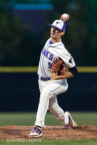 Holly Springs baseball senior Matt Wildness pitches in the Bobby Murray Invitational at Holly Springs High School. April 18, 2019. D4S_8298
