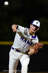 Holly Springs baseball senior Matt Wildness pitches in the Bobby Murray Invitational at Holly Springs High School. April 18, 2019. D4S_8320