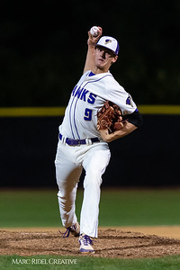 Holly Springs baseball senior Matt Wildness pitches in the Bobby Murray Invitational at Holly Springs High School. April 18, 2019. D4S_8325