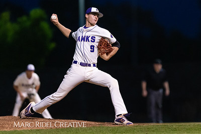Holly Springs baseball senior Matt Wildness pitches in the Bobby Murray Invitational at Holly Springs High School. April 18, 2019. D4S_8346