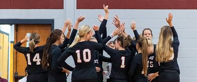 Meredith Avenging Angels volleyball vs Randolph-Macon. September 7, 2021.
