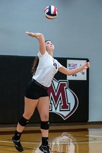 Meredith Volleyball senior night.. October 19, 2019. D4S_5954