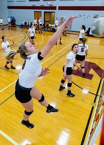 Meredith Volleyball senior night.. October 19, 2019. D4S_5789