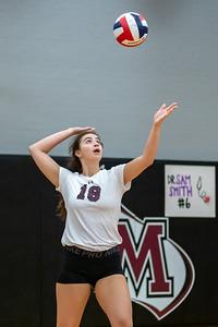 Meredith Volleyball senior night.. October 19, 2019. D4S_5963