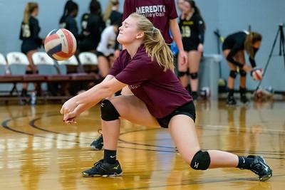 Meredith Volleyball senior night.. October 19, 2019. D4S_5733