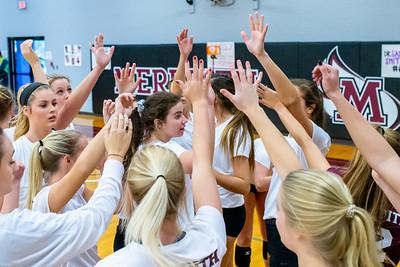 Meredith Volleyball senior night.. October 19, 2019. D4S_5852