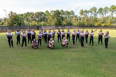 Meredith softball team photoshoot. September 30, 2021.