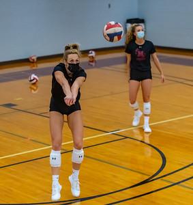 Meredith Volleyball vs Averett. March 6, 2021