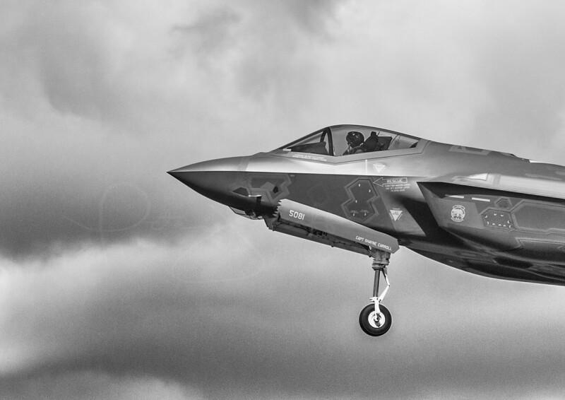 F-35A on approach at RAF Lakenheath