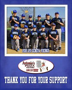 2015 9x12 12U Curran Sponsorship Plaque Antonios