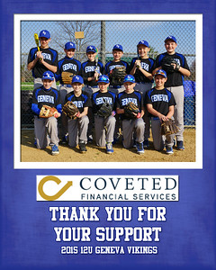 2015 9x12 12U Curran Sponsorship Plaque Coveted