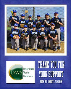2015 9x12 12U Curran Sponsorship Plaque DWS
