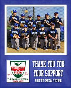 2015 9x12 12U Curran Sponsorship Plaque Aurielos Pizza