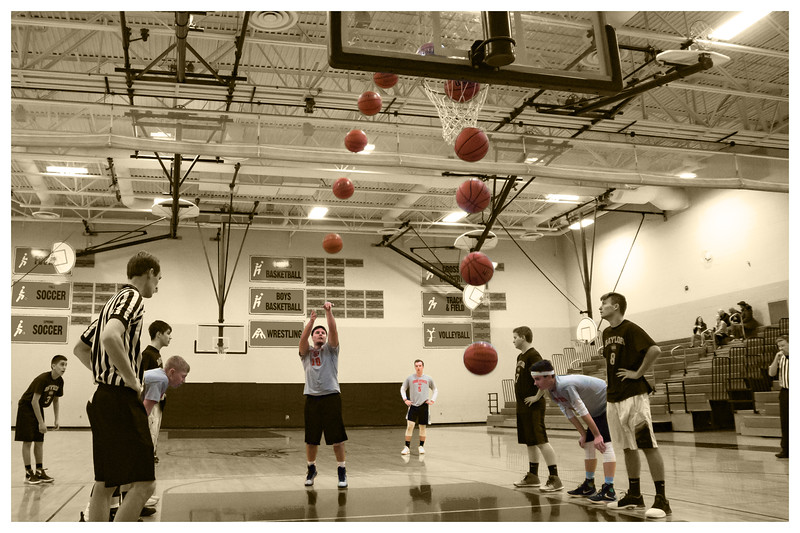 Danny Free Throw Sequence Cropped Color Sepia