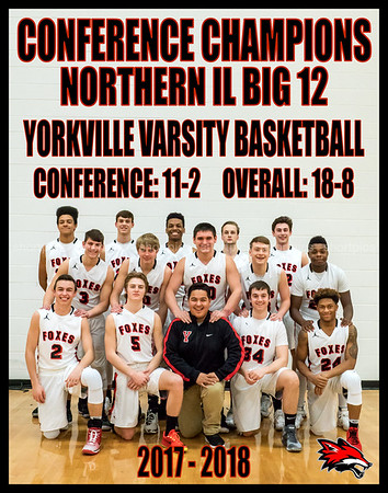 Yorkville Varsity Team 11x14 Vertical Conference Champs