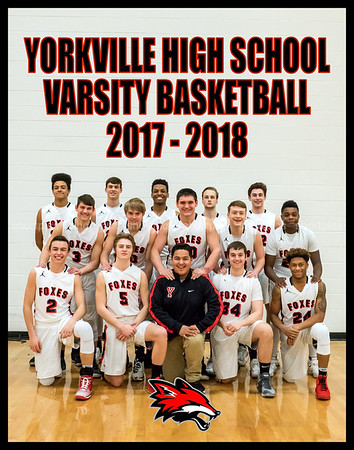 Yorkville Varsity Team 11x14 Vertical w logo