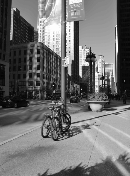 Bicycles on Chicago's Michigan Avenue